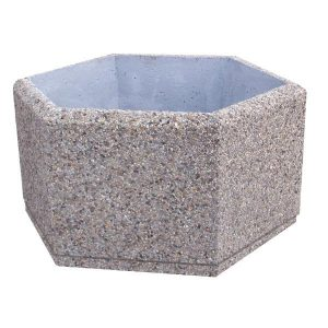 Hexagon concrete planters