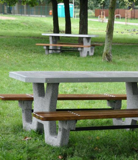 betonowe stoły rekreacyjne