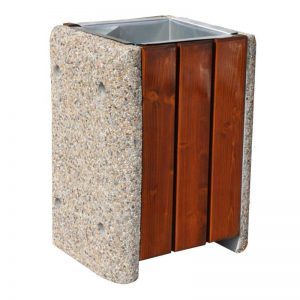 Concrete-wooden bins