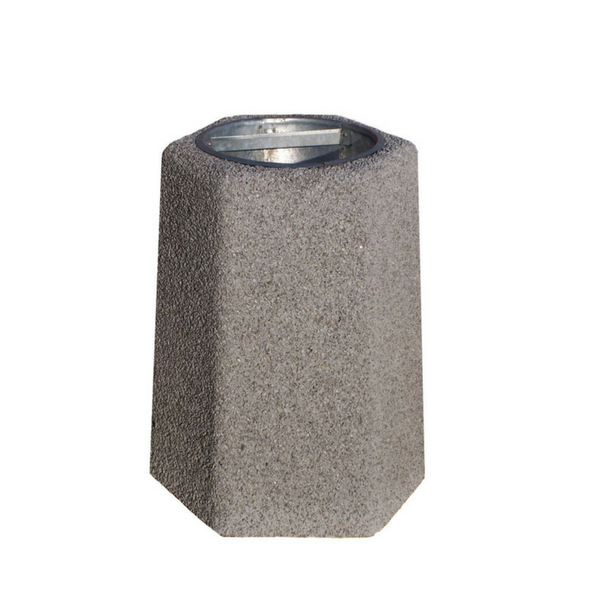 Kosz betonowy sześciokątny 40l. kod: 101