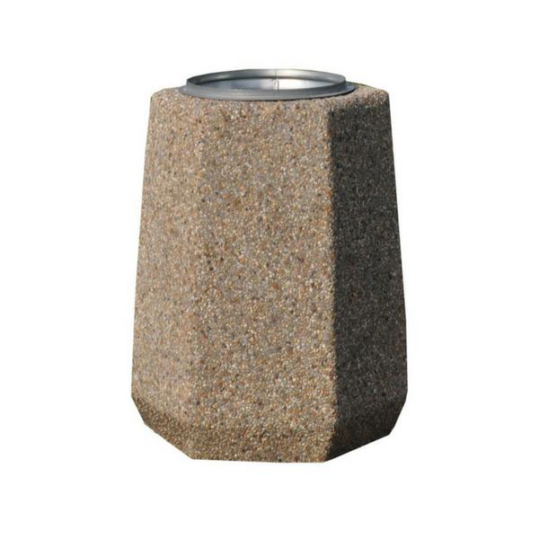 Kosz betonowy sześciokątny 40l. kod: 102