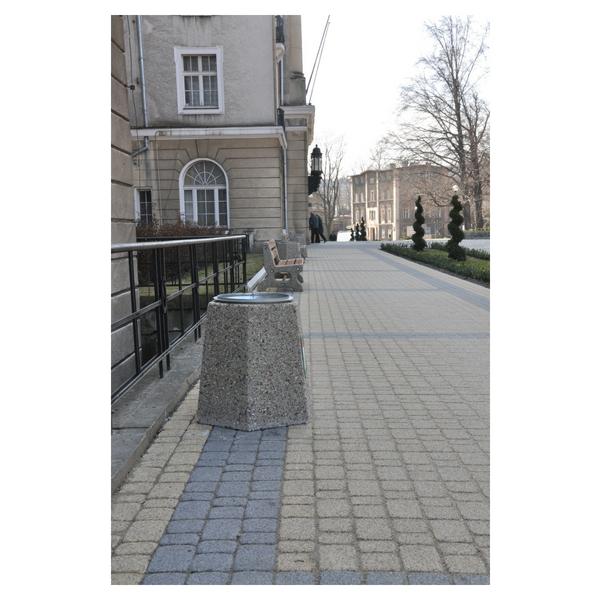 Kosz betonowy sześciokątny 40l. kod: 104