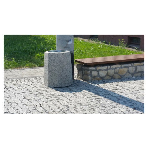 Kosz betonowy ośmiokątny 70l. kod: 108