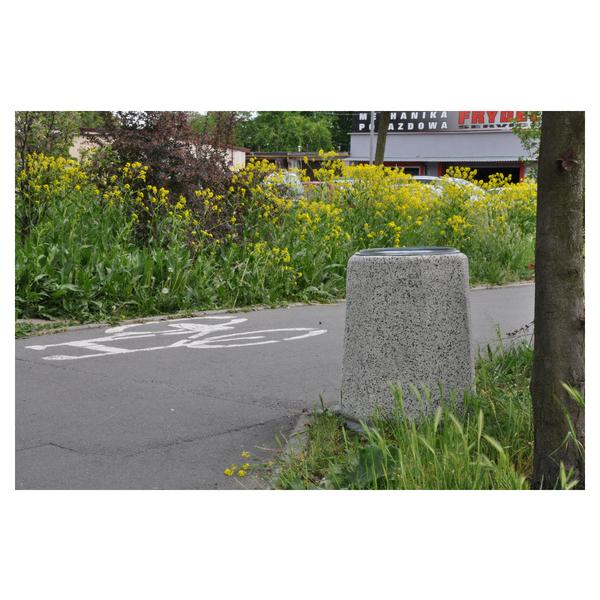 Kosz betonowy ośmiokątny 70l. kod: 108B