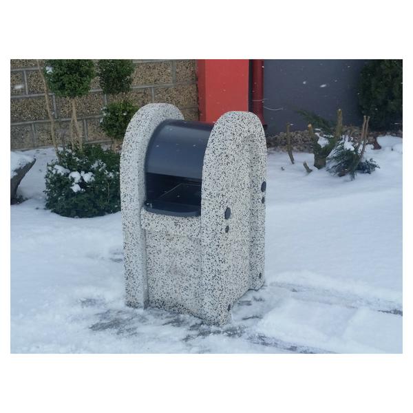 """Kosz betonowy zdaszkiem """"szafka"""" kod: 123"""