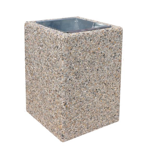 Kosz betonowy kwadratowy 40l. kod: 127