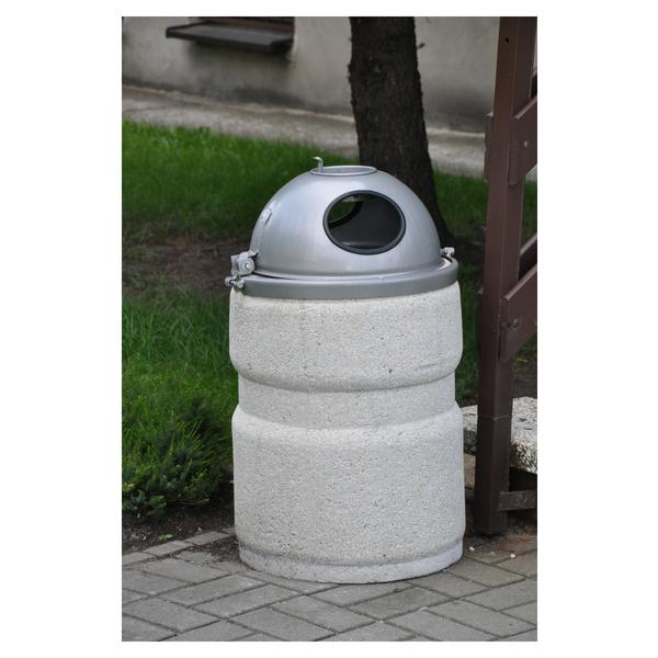 Kosz betonowy zkopułą 40l. kod: 136