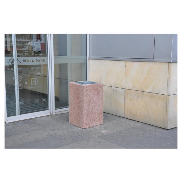 Kosz betonowy kwadratowy 70l. kod: 140