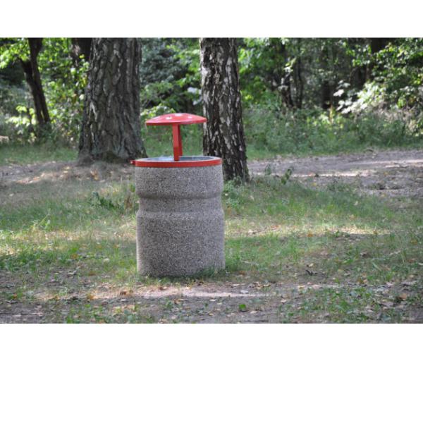Kosz betonowy zdaszkiem kod: 142, 138, 143