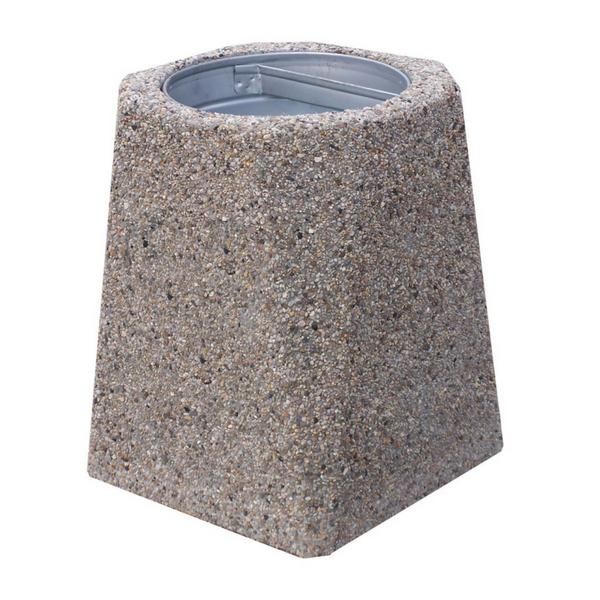 Kosz betonowy trapezowy 40l. kod: 144