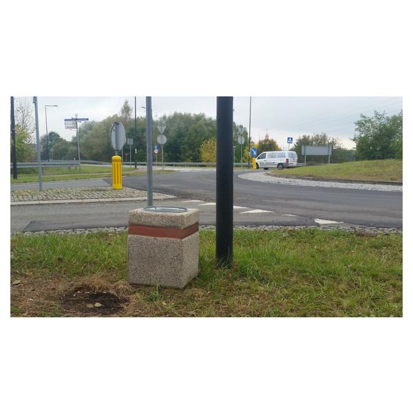 Kosz betonowy okrągły 40l. kod: 145