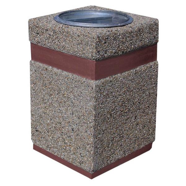 Kosz betonowy kwadratowy 40l. kod: 146