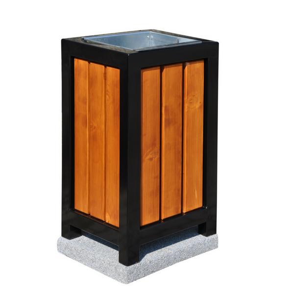 Kosz metalowo-drewniany kwadratowy kod: 151