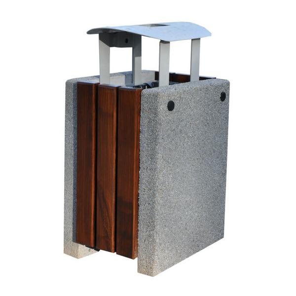 Kosz betonowo-drewniany kwadratowy kod: 152