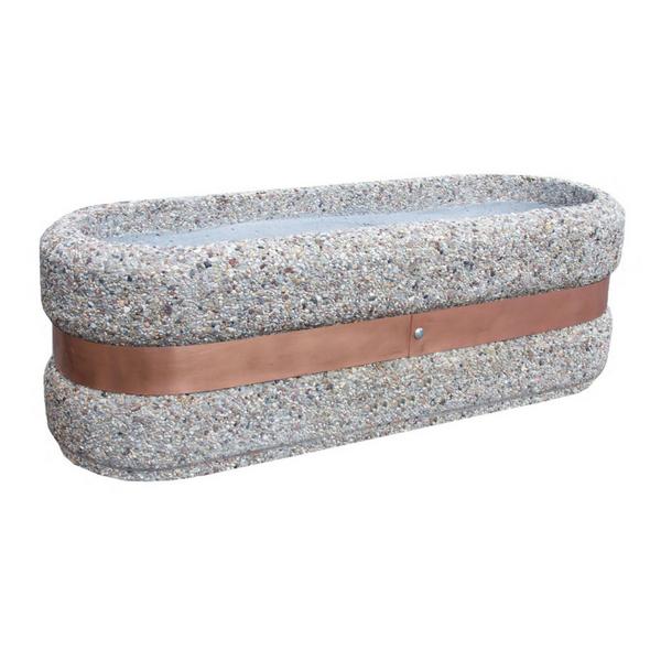 Donica betonowa owalna 120x40x40 kod: 217