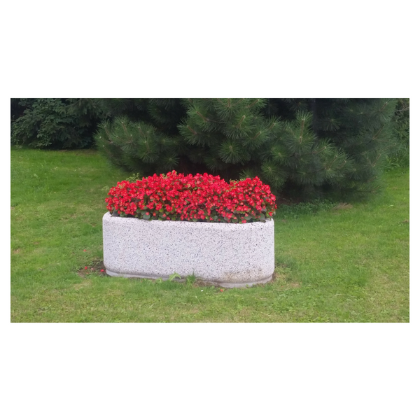 Donica betonowa owalna 150x60x50 kod: 219
