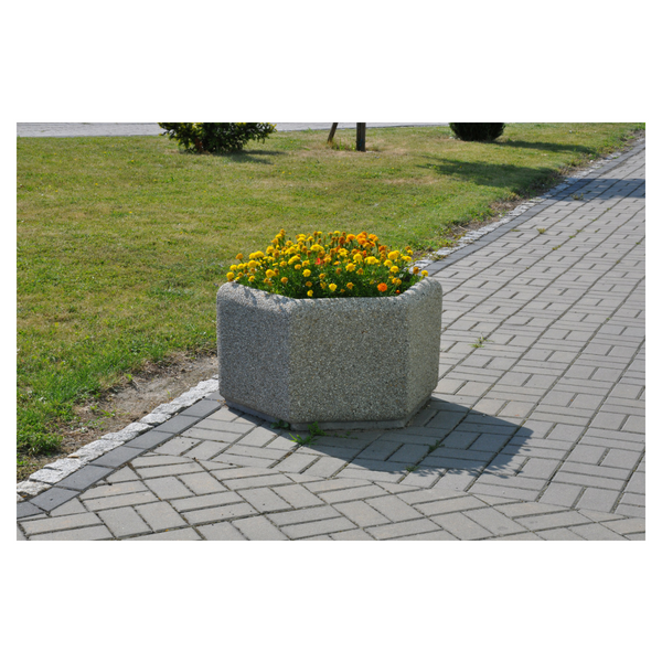 Donica betonowa sześciokątna 120×60 kod: 227