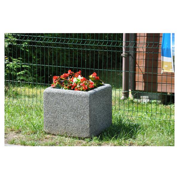 Donica betonowa kwadratowa 50x50x50 kod: 230