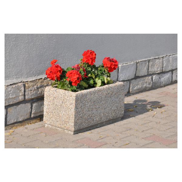 Donica betonowa prostokątna 60x30x32 kod: 237