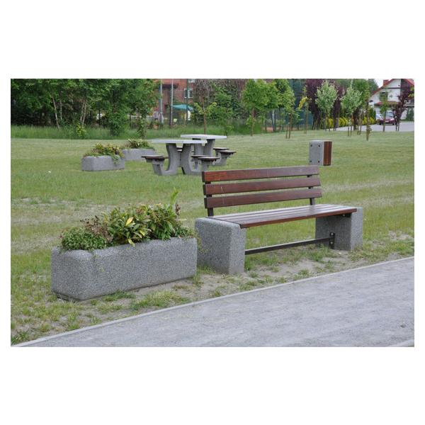 Donica betonowa prostokątna 120x40x40 kod: 244