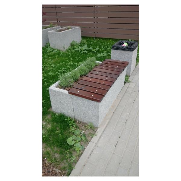 Donica betonowa prostokątna 125x40x50 kod: 252