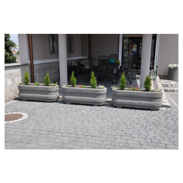Donica betonowa owalna 120x40x40 kod: 261