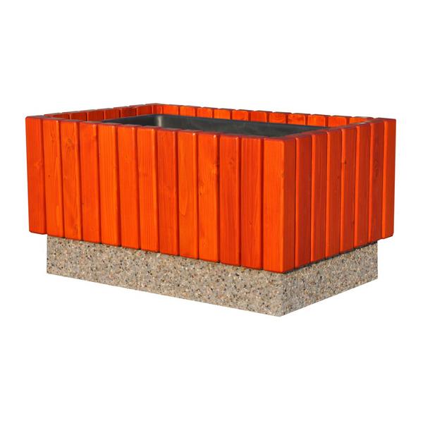 Donica betonowo-drewniana 87x56x46 kod: 270