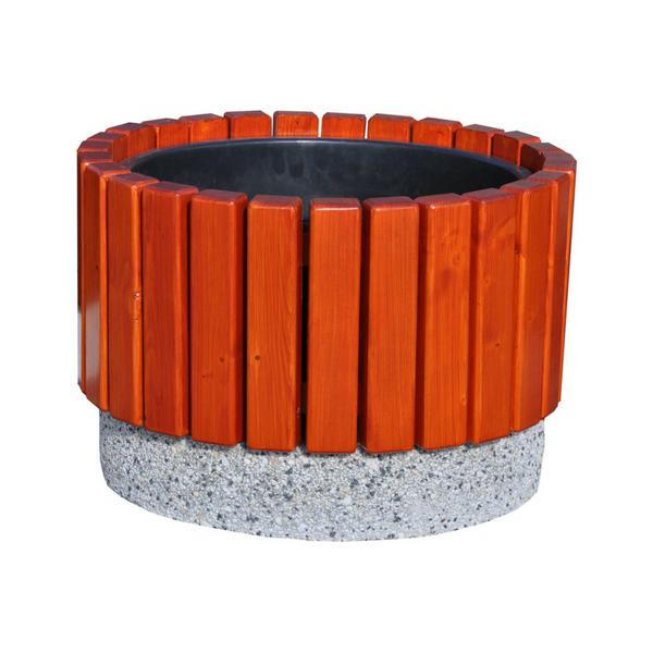 Donica betonowo-drewniana 63×42 kod: 273