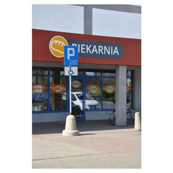 Betonowy słupek parkingowy wys. 80cm Ø /65cm kod: 335
