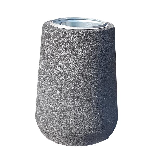"""Kosz betonowy """"beczka wysoka"""" 70l. kod: 154"""