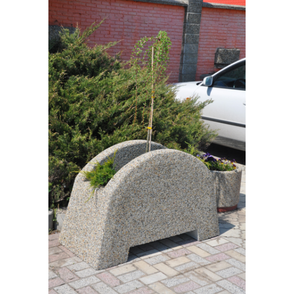 Donica betonowa łukowa 120×76 cm kod: 290
