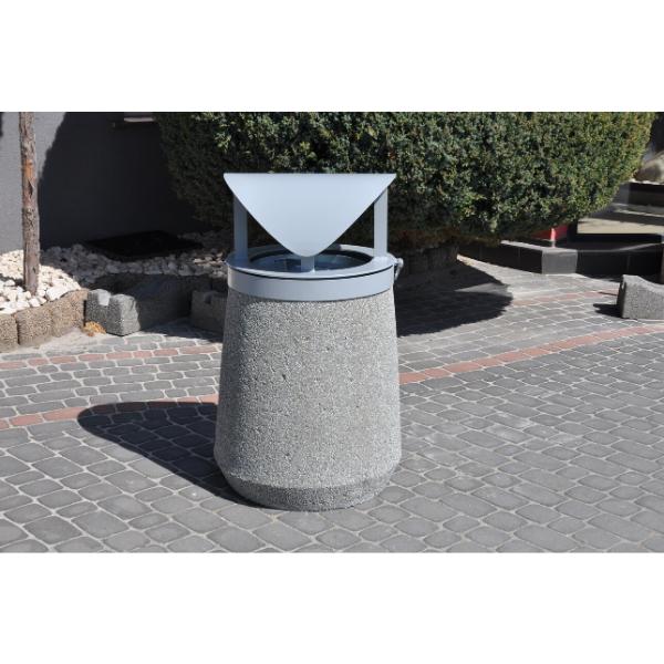 Kosz betonowy zdaszkiem kod: 158