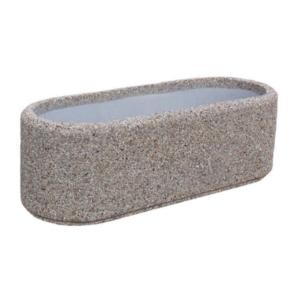 Donice betonowe owalne