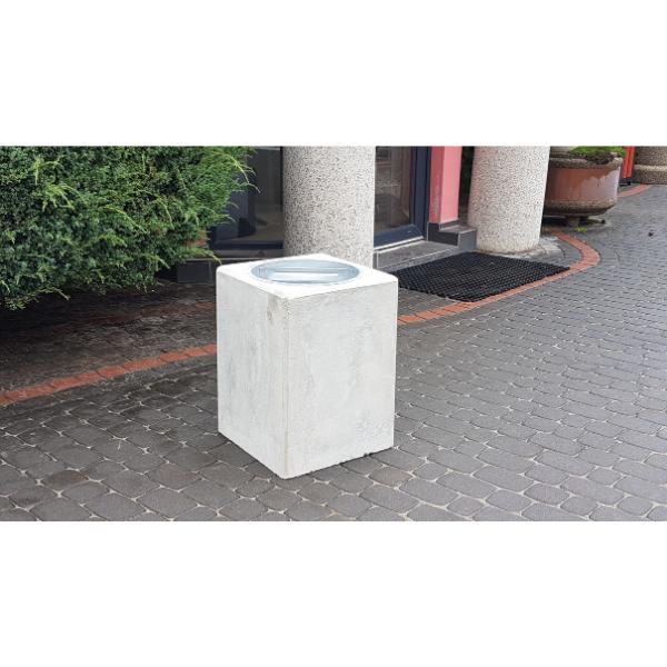 Kosz betonowy kwadratowy 40l. kod: 160