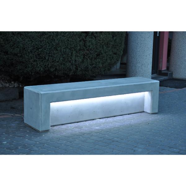 Ławka betonowa zpodświetleniem LED kod: 480